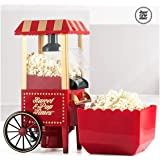 Appetitissime Sweet & Pop B1565166 - Macchina Popcorn, Carretto Vintage, 1200 W, colore rosso