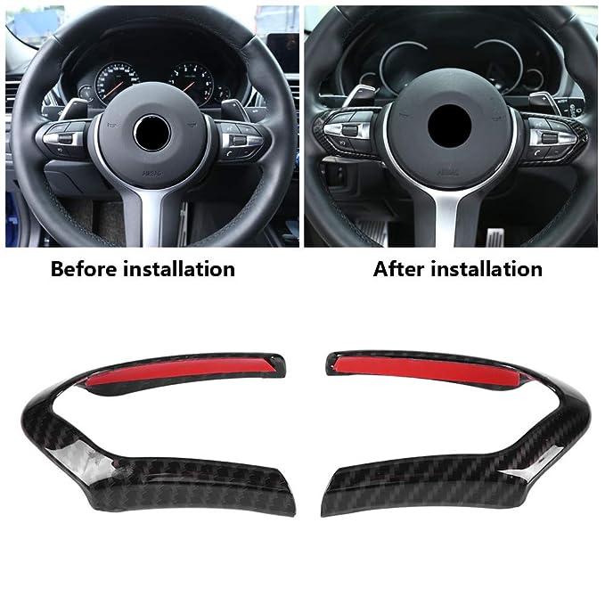 Lenkradverkleidung Car Carbon Lenkradverkleidung f/ür F20 F22 F30 F32 F10 F06 F15 F16 M-Sport