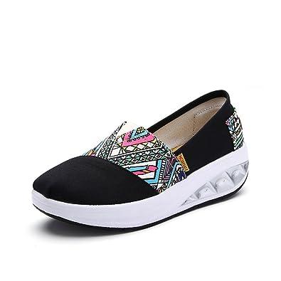 90c96bbdae xiaoyang Women Walking Shoes Slip-on Lightweight Shake Shoes Women Mesh  Brethable Platform Sneakers Sandals
