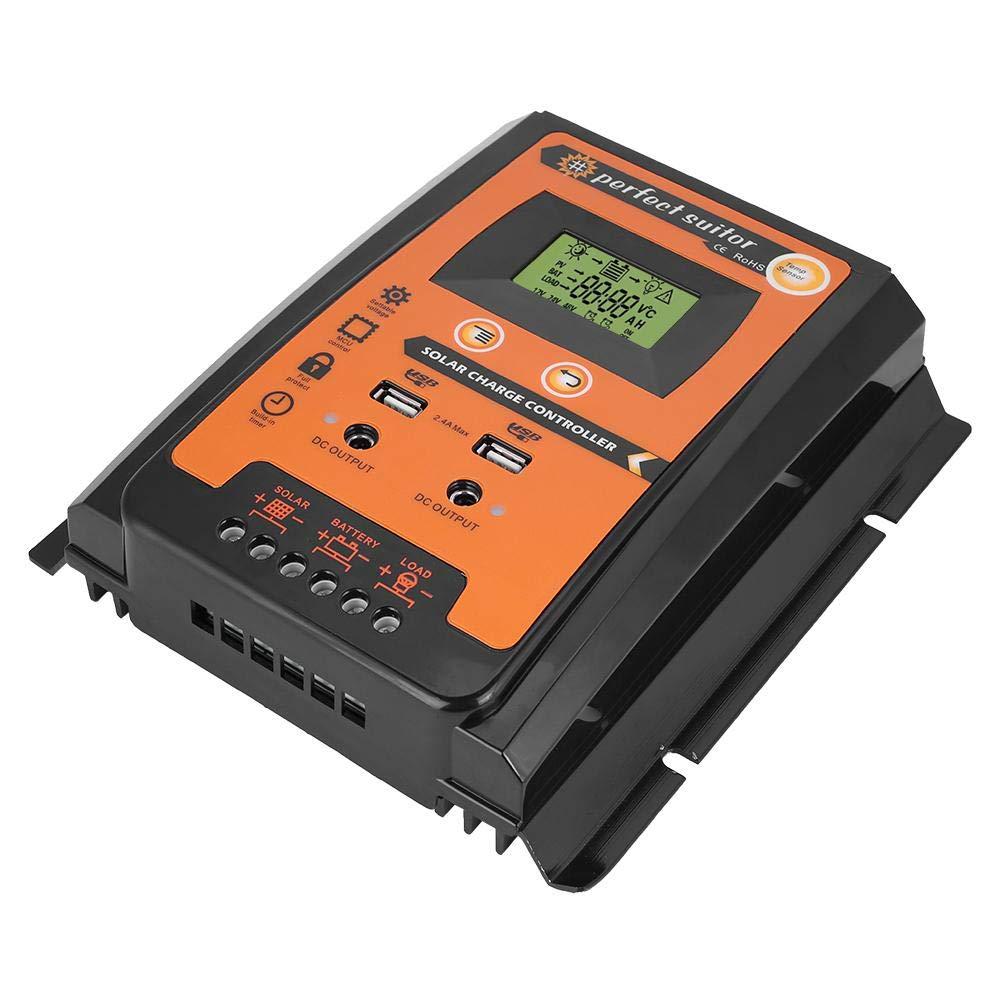 24V 30A 50A Premium MPPT Regolatore di carica solare Pannello solare Regolatore di batteria Doppio display LCD USB Gorgeri /12V 70A