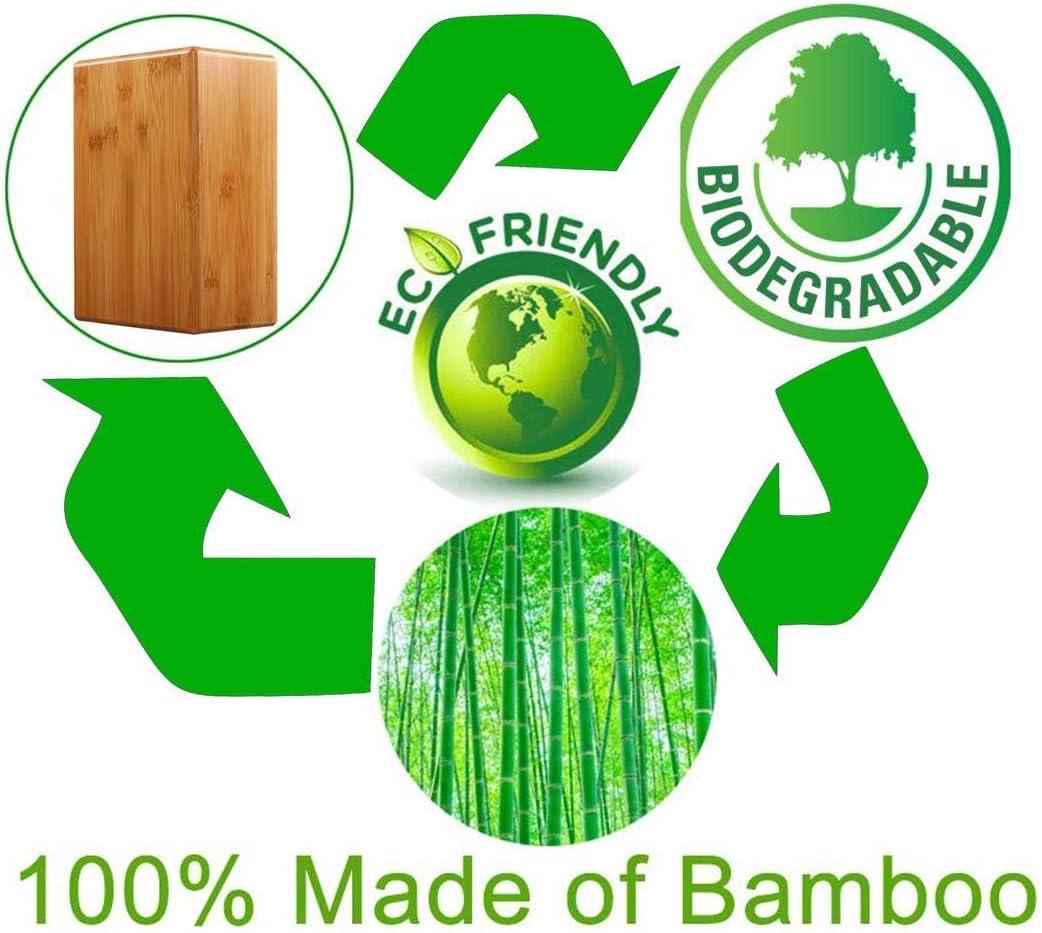 Naturel Bamboo Yoga Block Kagni Brique de Yoga en Bambou Lot de 2 Bloc de Yoga /écologique pour Yoga Pilates Aptitude Gymnastique