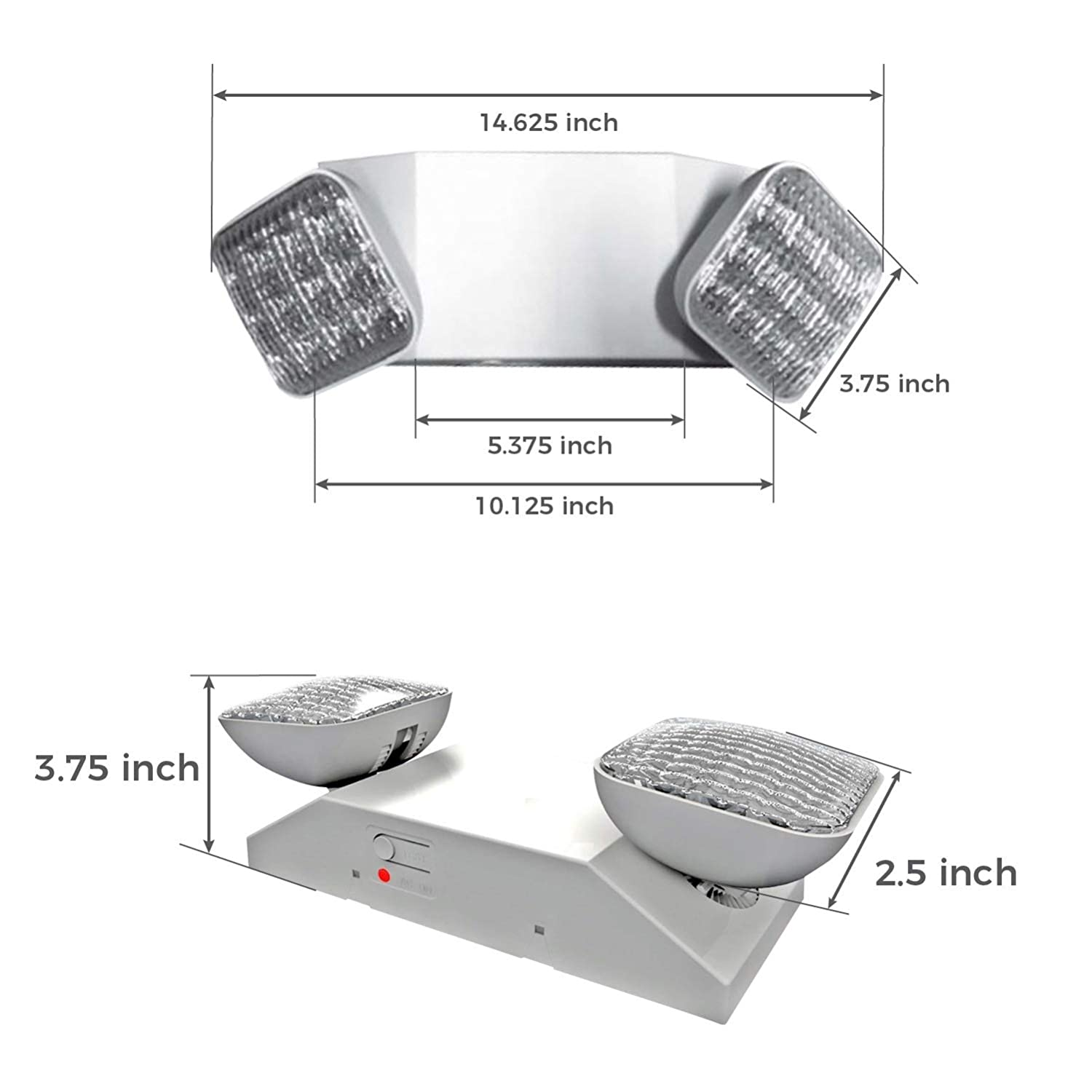 Ciata Lighting Emergency Lights Ultra Bright White Led Printed Circuit Board Light Wifi With Back Up Battery Adjustable Lamps 90 Minute Minimum Capacity Made From