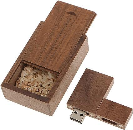 Desconocido Memoria USB 2.0 Unidad Flash USB de Madera Nogal con ...