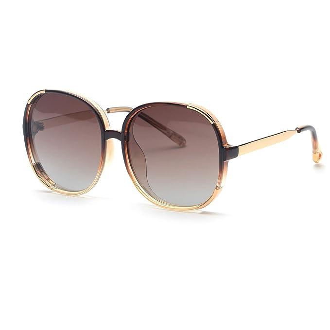 Amazon.com: FAGUMA Gafas de sol redondas polarizadas de gran ...