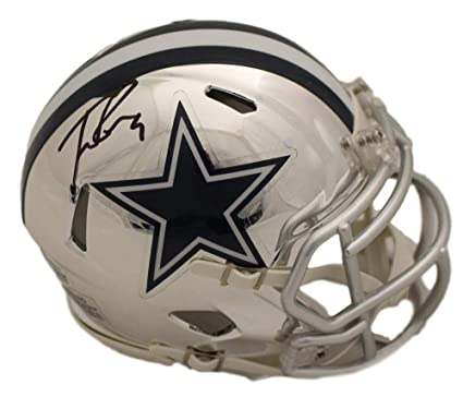750f2a29148 Amazon.com: Tony Romo Autographed/Signed Dallas Cowboys Chrome Mini ...