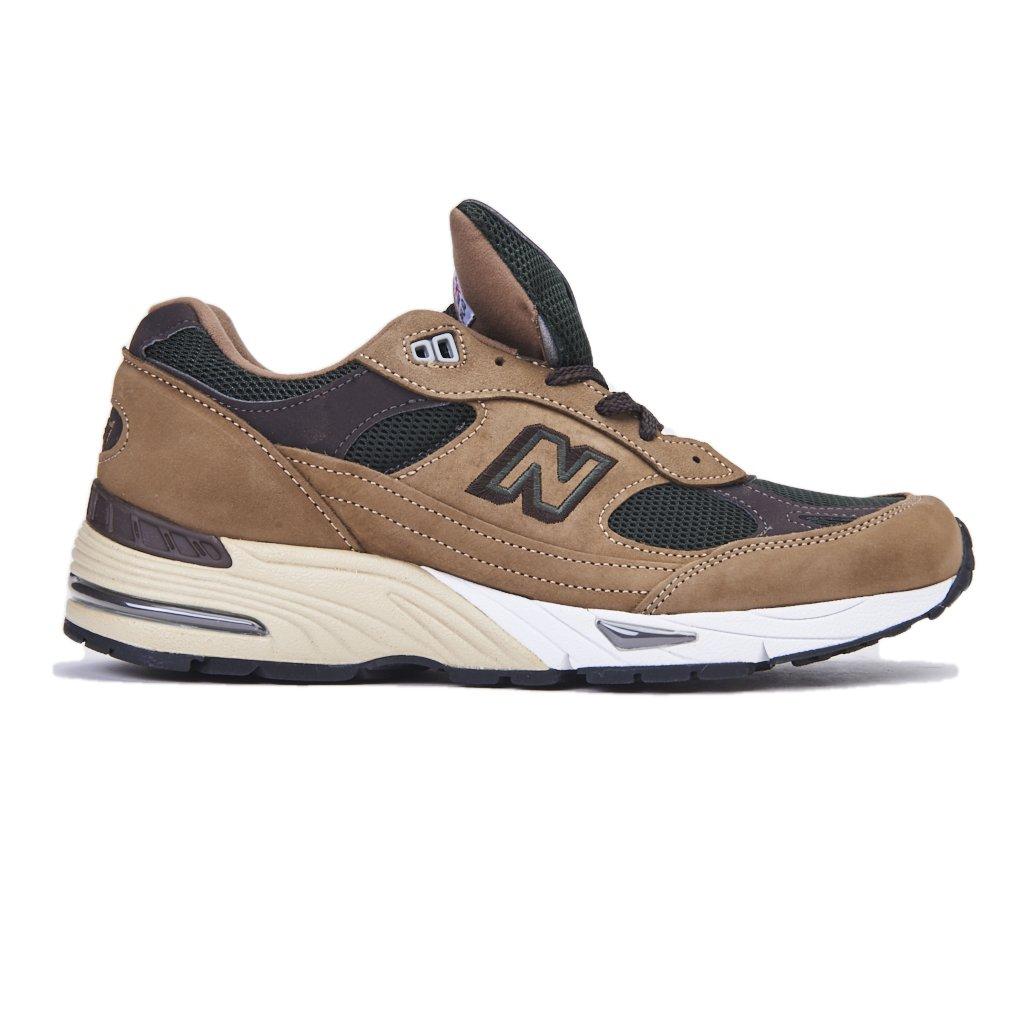 Sneaker New Balance 991 in nubuck marrone e mesh 12|Marrón