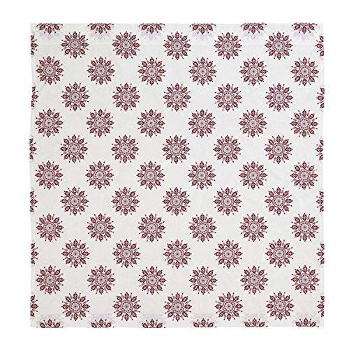 VHC Brands Boho & Eclectic Bath - Mariposa White Shower Curtain, (Fuchsia Quilt Fabric)