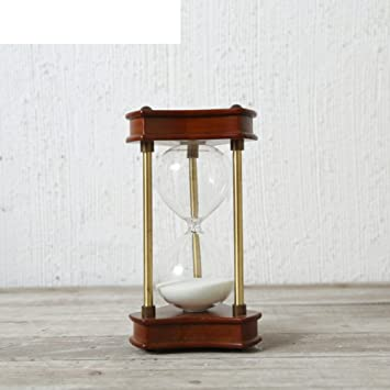 Classical Oak Timing Sandglass The Living Room Study Hourglass Cafe