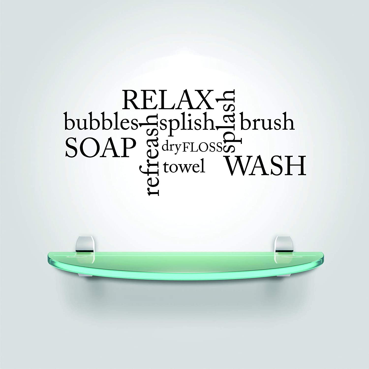 Top Selling Decals - Prices Reduced : Peel & Stick Wall Sticker : Bubbles Relax Refresh Wash Bathroom Stylish Decor Bedroom Bathrooms Living Room Art Vinyl Mural Bath Shower Size:12 InchesX18 Inches