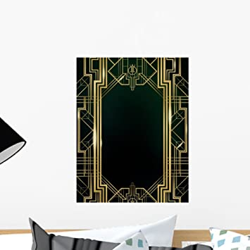 Great gatsby art deco wall mural by wallmonkeys peel and stick graphic 18 in h