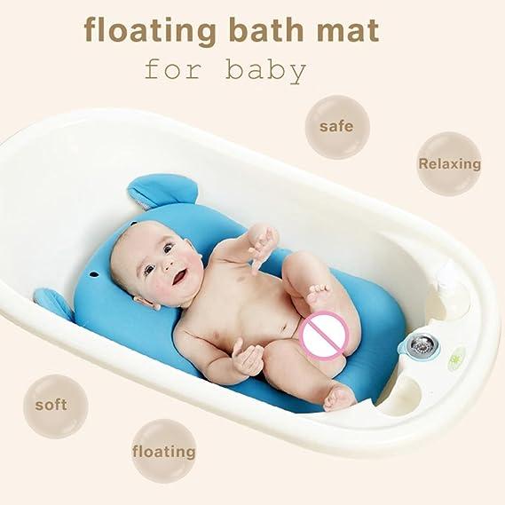 Almohadilla acolchada para la bañera de Domybest, cojín flotante de apoyo para recién nacidos de 0-6 meses Elephant Pattern: Amazon.es: Bebé