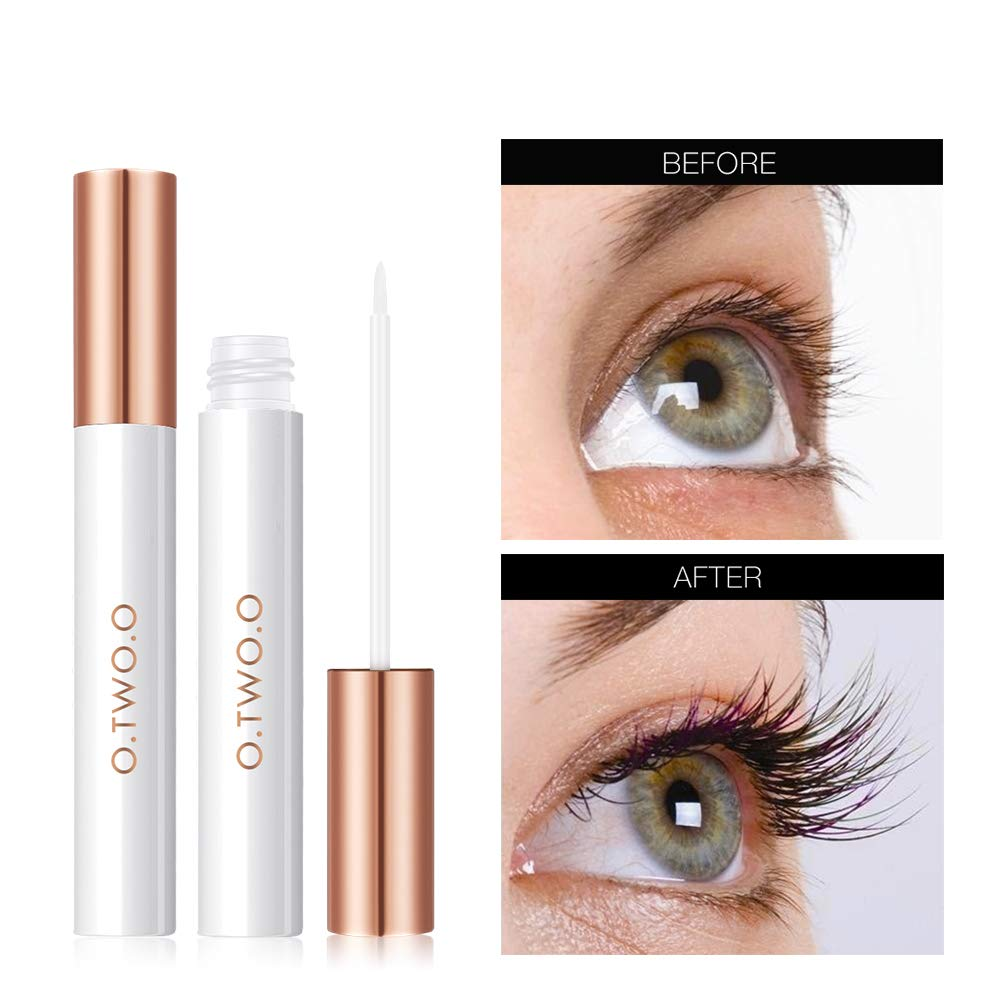 Lash Growth Serum, Eyebrow Growth Enhancer, 100% Natural Plant Essence Lash Booster for Long. Dermatologist Certified & Hypoallergenic