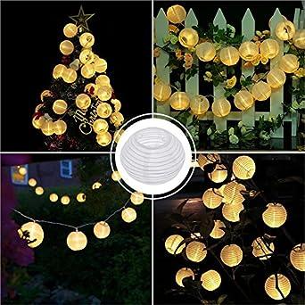 Guirlande Lumineuse Lampe Solaire Exterieur Jardin, Bawoo 30 LEDs ...