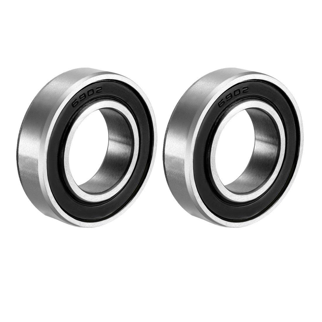 Rodamiento rígido uxcell 6902-2RS 15mm x 28mm x 7mm (2un)