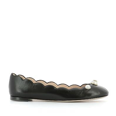 4068fbef82fb Gucci Femme 426991C9D001000 Noir Cuir Ballerines  Amazon.fr ...