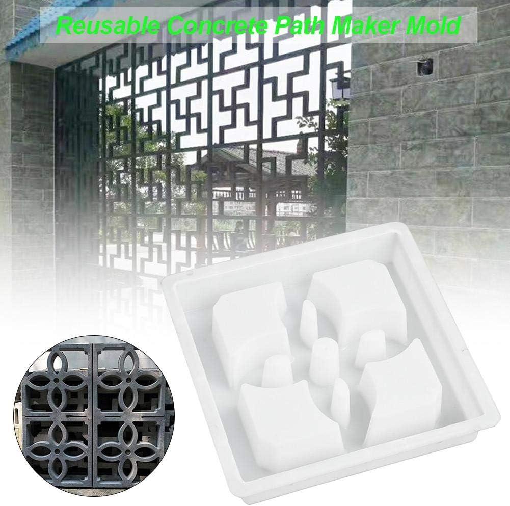 N/Z Walk Maker Garden Patio Fence Reusable Concrete Path Maker Molds Cement Brick Mold Plastic Mould Square Paving Mould DIY Simulation Concrete Brick Path Mold