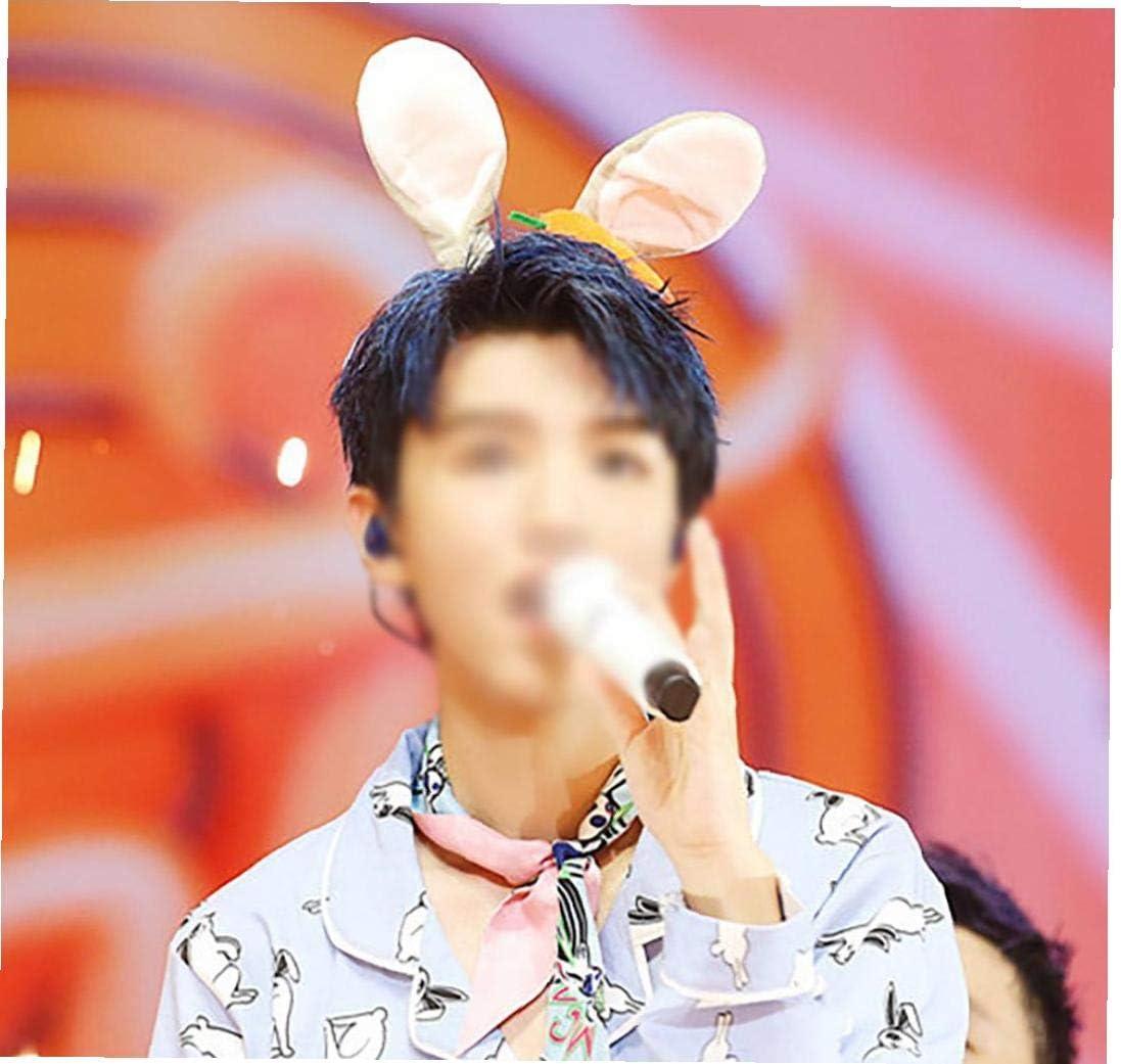 Bunny Ear Headband Hairband Rabbit Ear Carrot Hair Hoop Headpiece For Easter Costume Party 1 Piece