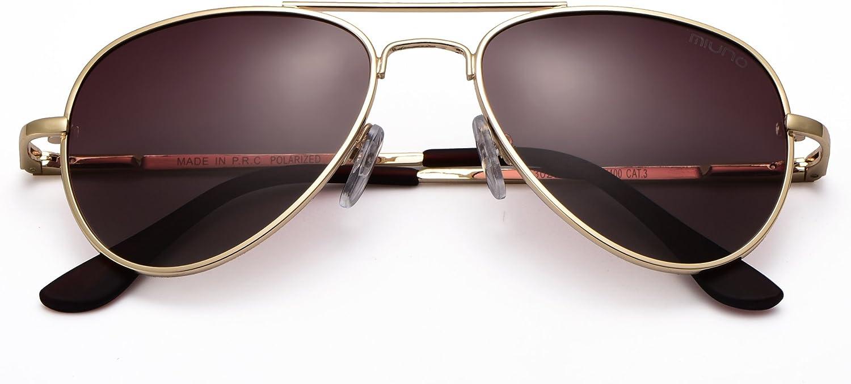 Miuno Kinder Sonnenbrille Metalgestell Pilotenbrille f/ür Jungen und M/ädchen mit Etui 4025k