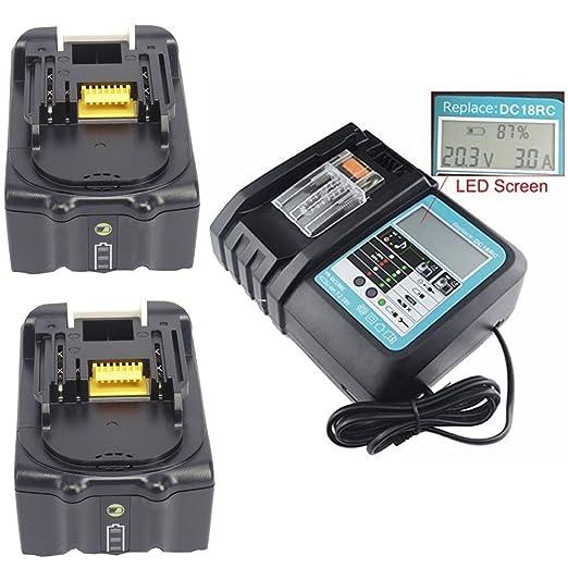 Cargador para DC18RA/RC con luces LED + 2pcs batería para ...