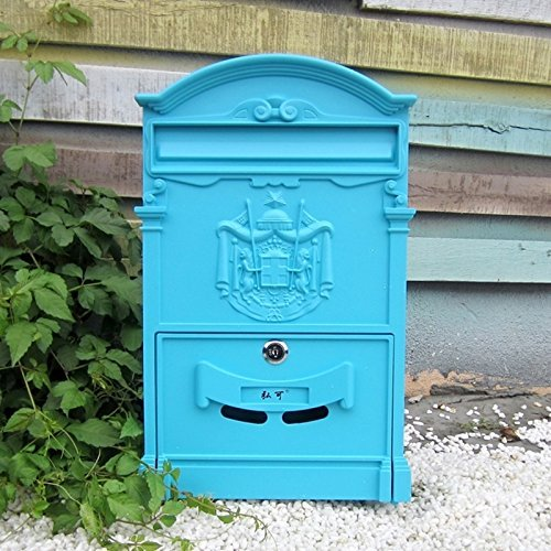 - Traditional Aristocratic, Sun Identity Villa Cast Aluminum Mailboxes 49 Colors Available (26 Lily Sky)