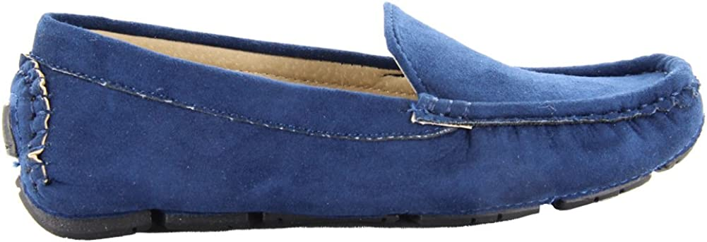 Maxu Kid Suede Slip-On Unisex Child Oxford /& Loafer