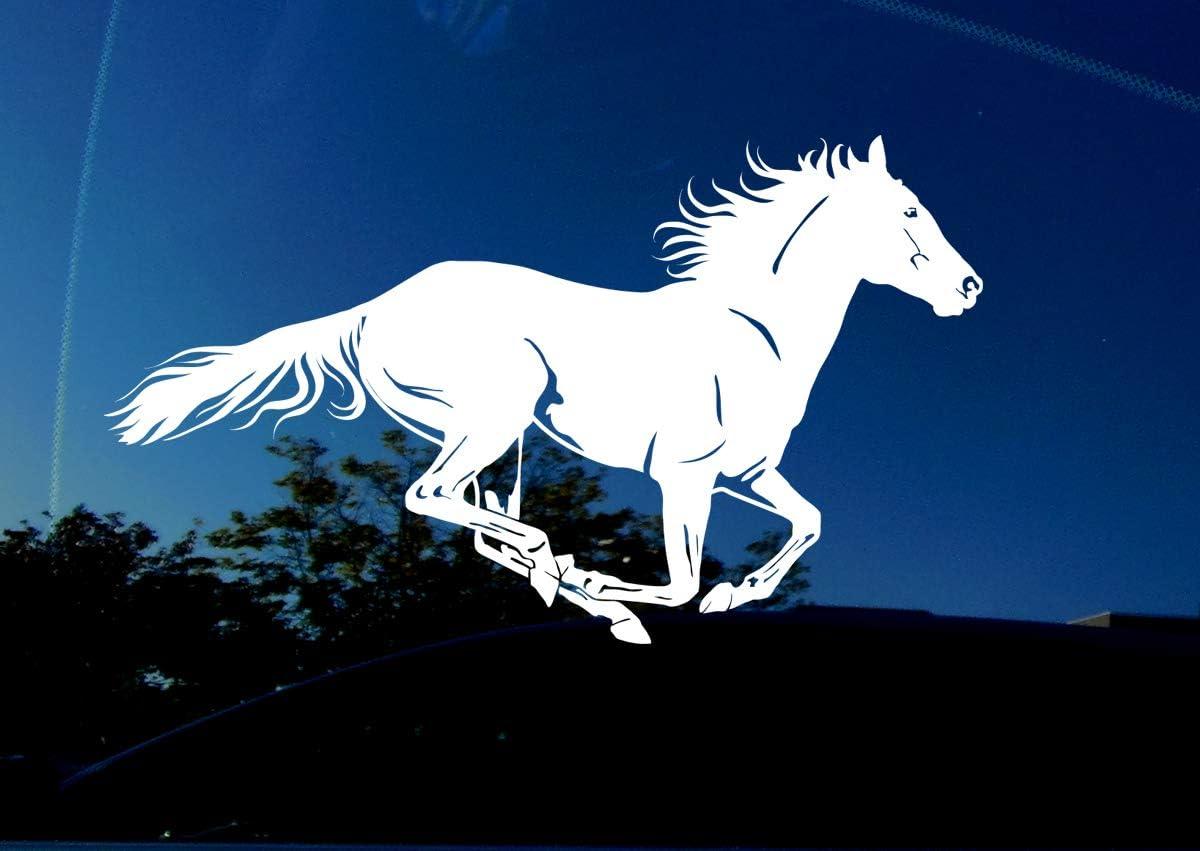 Running Horse vinyl decal//sticker window laptop truck trailer horseback