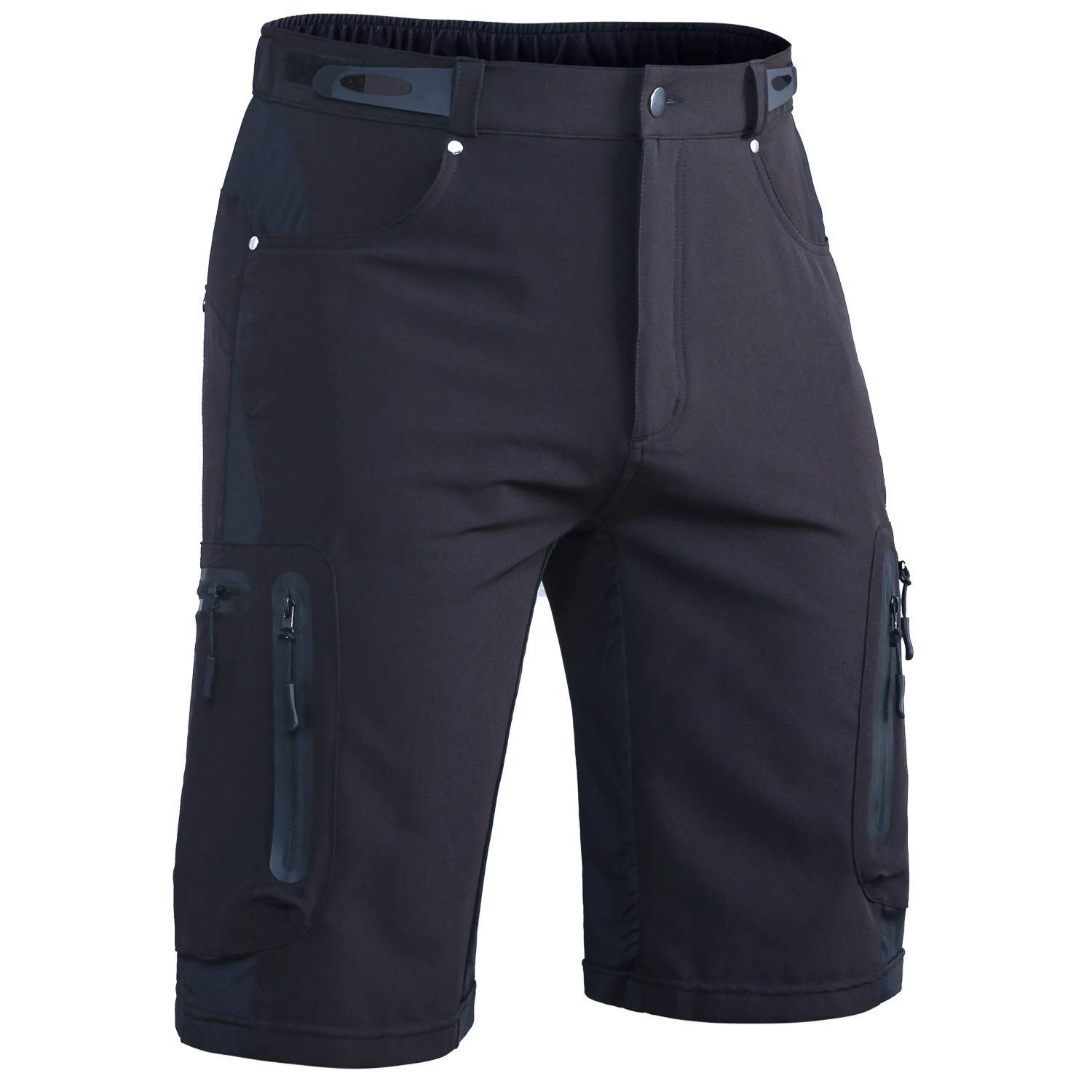 Hiauspor Men Hiking Shorts Lightweight Outdoor Quick Dry Shorts with Zipper Pockets Black by Hiauspor