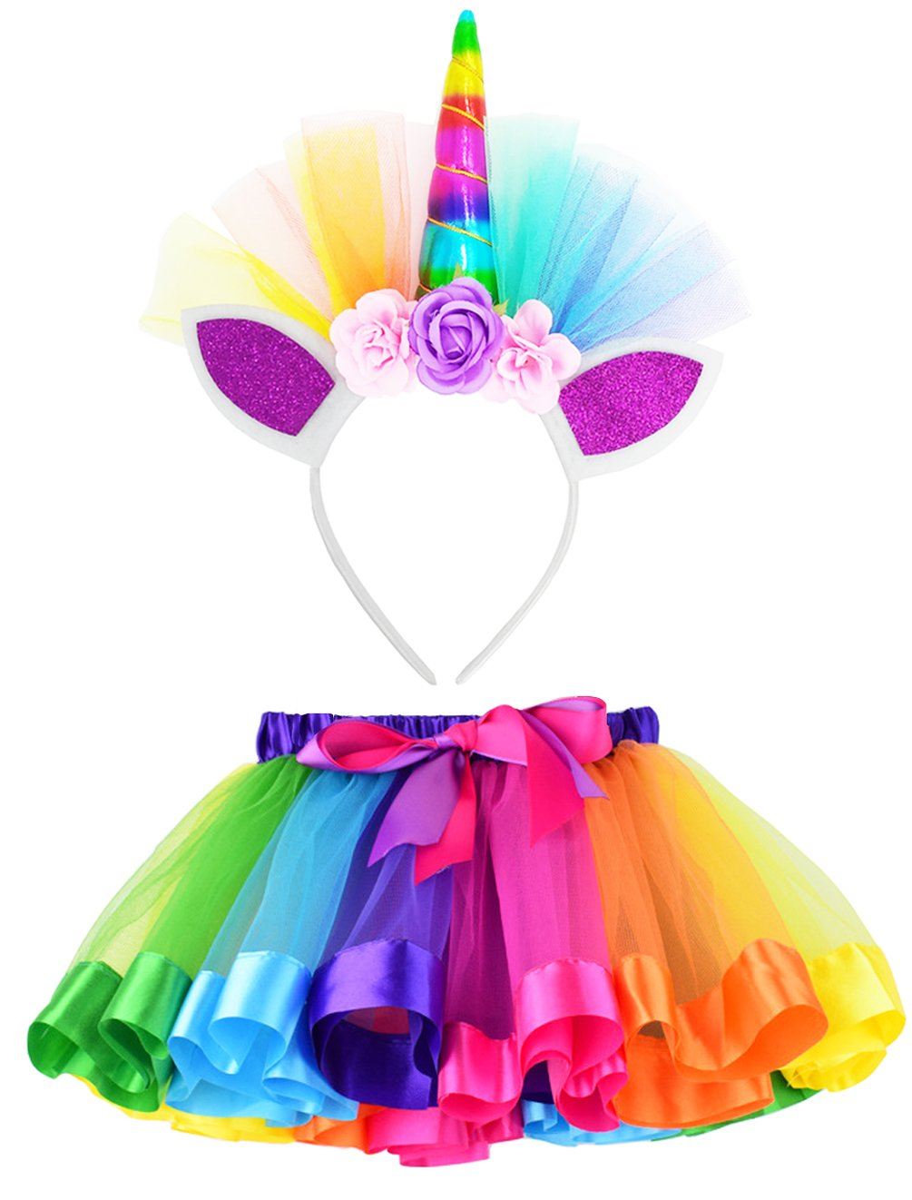 Trickortreat Unisex-Children Kids Costume, Rainbow, M,2-4 Years