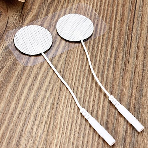 (2pcs Round Replacement Electrode Squishies Squishy Pads for TENS Machine Self-Adhesive Reusable Long Life)