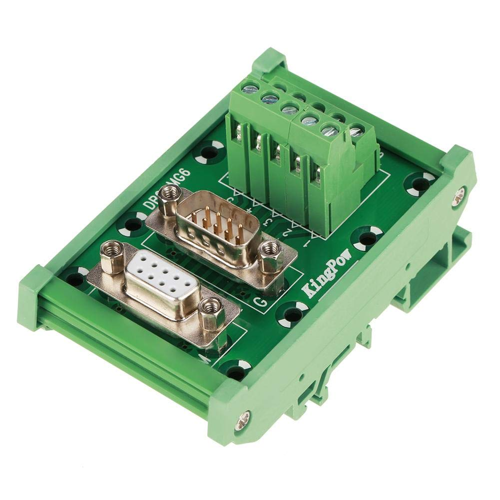 Breakout Board DB9-MG6 DIN Rail Mount Interface Module Male/Female Connector Breakout Board Hilitand