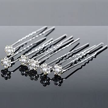 Diamonte /& Pearl Hair Pins Bobby pins Bridal,Wedding,Prom,Sparkle,Diamante