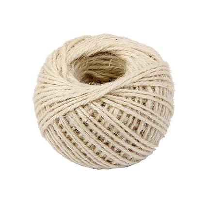 Cosanter DIY Cuerda de Yute para floristería, Manualidades, decoración de jardín Cuerda de cáñamo