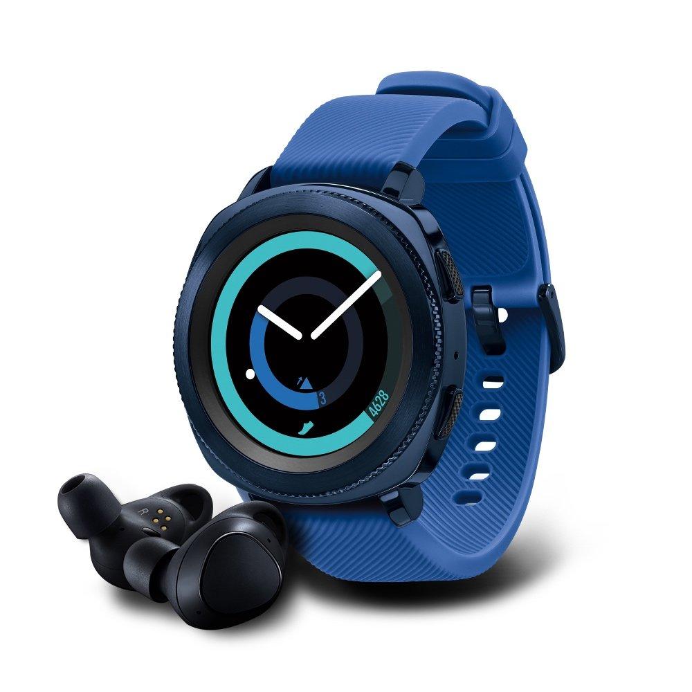 Samsung Gear Sport Smartwatch with Gear IconX Fitness Earbuds - Black