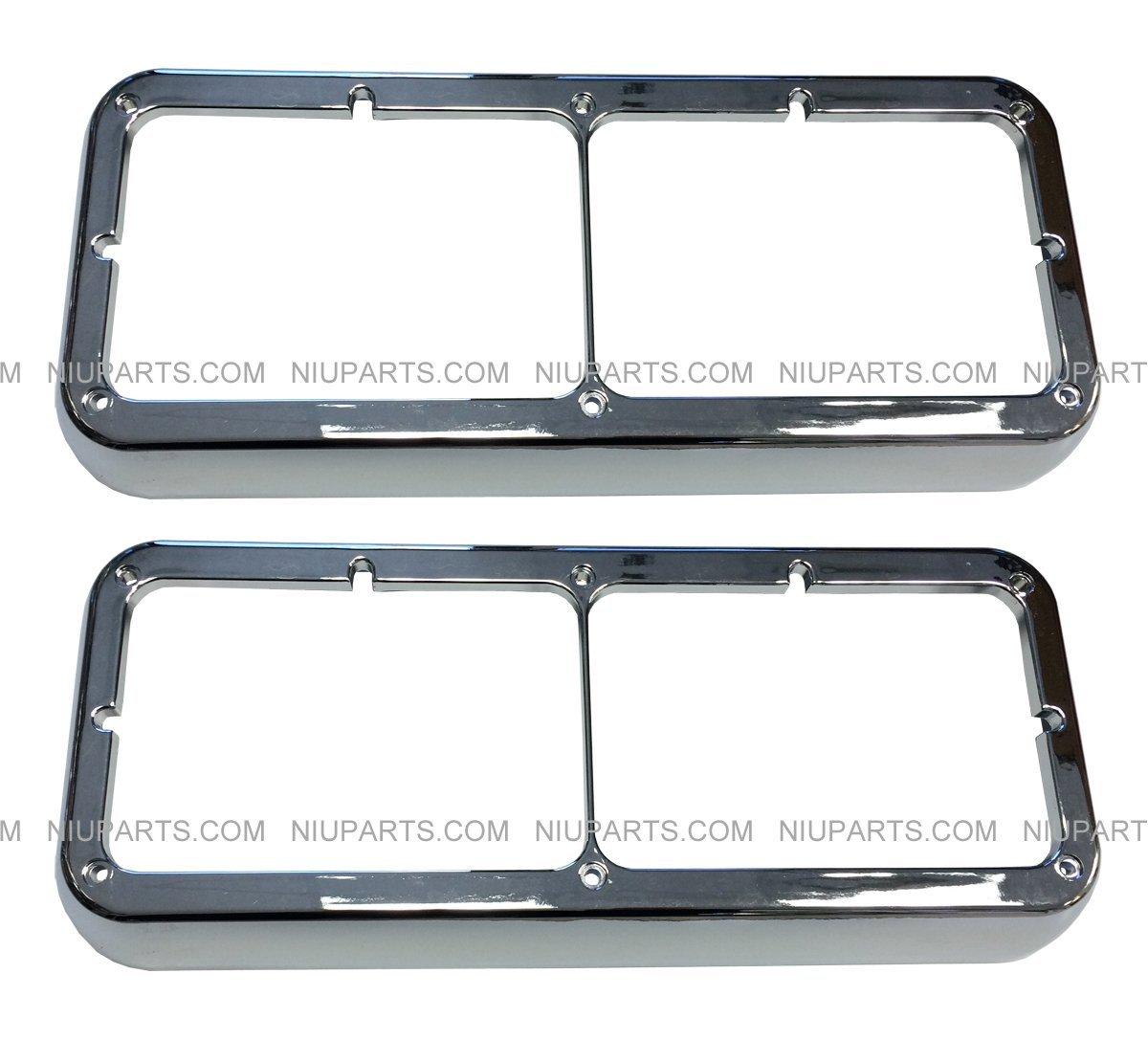 Regular Bezel Chrome Pair (Fit: Kenworth T400 T600 T800 W900B W900L Classic 120/132. Peterbilt 378 379. Western Star 4900)