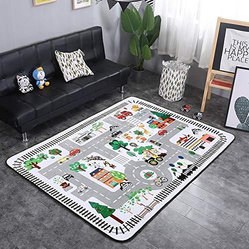 nobrand ZLEG E Town Street Pattern Rectangular Polyester Anti-Skid Household Carpet Yoga Mat, Size: 200cm x 150cm Q