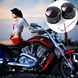 Sedeta® Black Front Axle Nut Cover Motorcycle Axle Caps Axle Nuts decorative Covers For Harley Softail Electra Road Glides Sportster