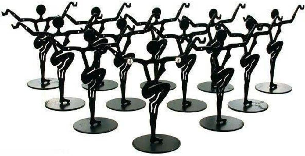 12 Black Metal Earring Dancers Jewelry Showcase Display Stands 3.25""