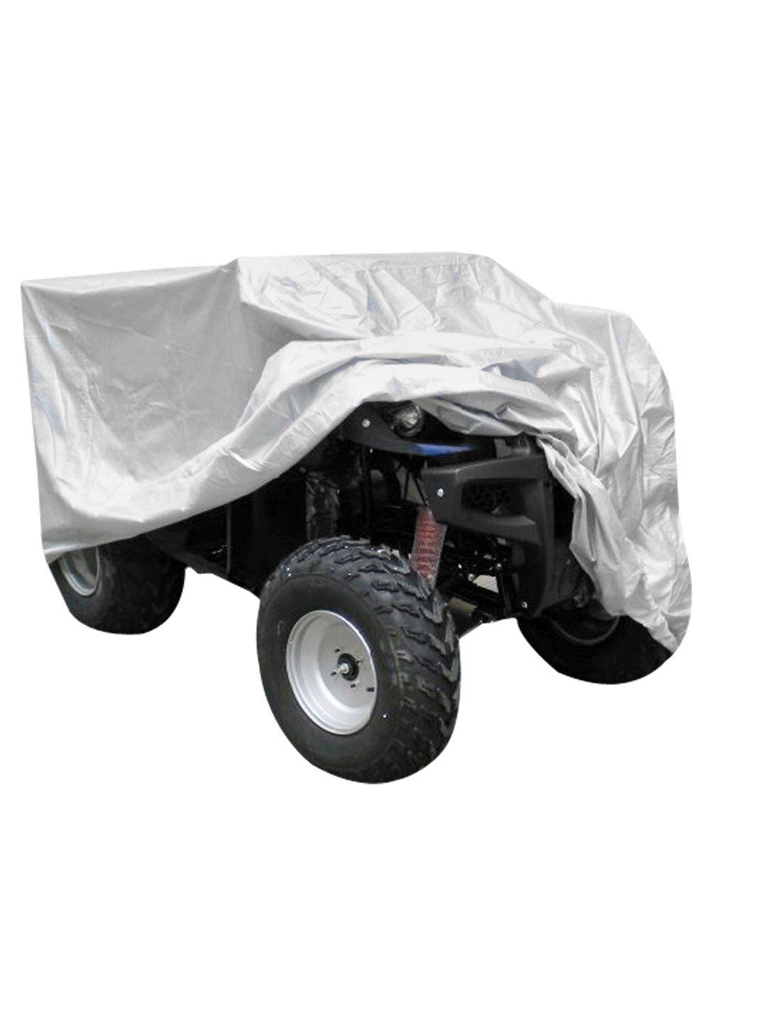Sourcingmap/® Ton Argent Protection r/ésistant Eau Pluie Quad ATV Couvrir 210x120x115cm