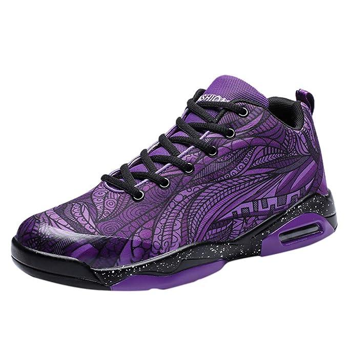 FRAUIT Zapatos de Baloncesto de los Hombres Zapatos Amortiguadores ...