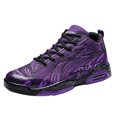 BaZhaHei Zapatillas de Mujer Zapatillas de Baloncesto de Pareja de ...