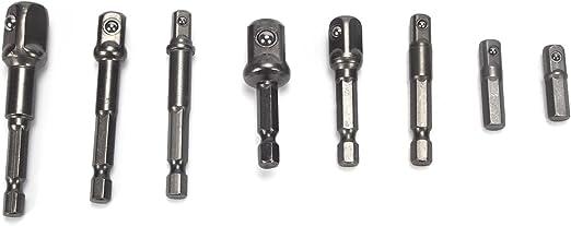 "8PCS Socket Bits Adaptateur Set Hex Drill Nut Driver Power Tige 1//4/"" 3//8/"" 1//2/"" S"