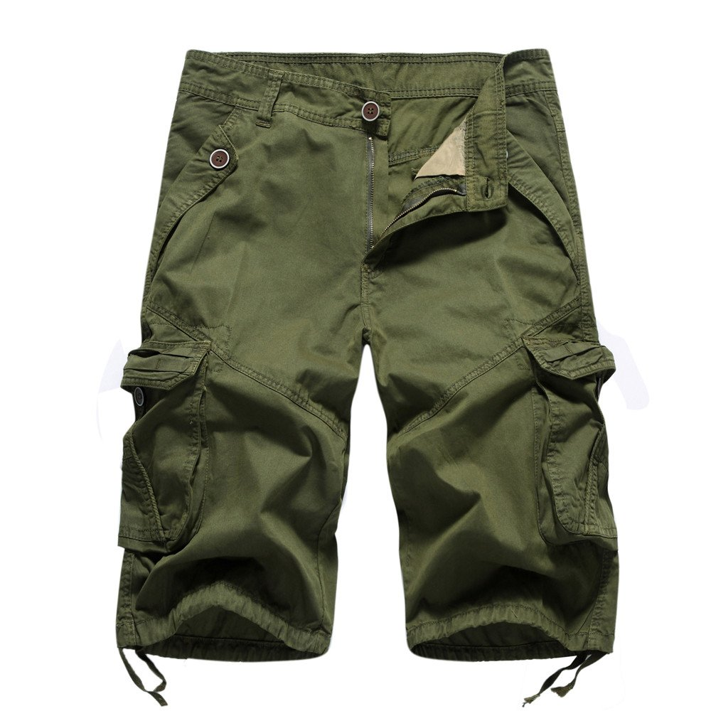 Mens Pants ! Charberry Tooling Shorts Fashion Casual Pocket Beach Work Trouser Shorts Pants (36, Army Green)