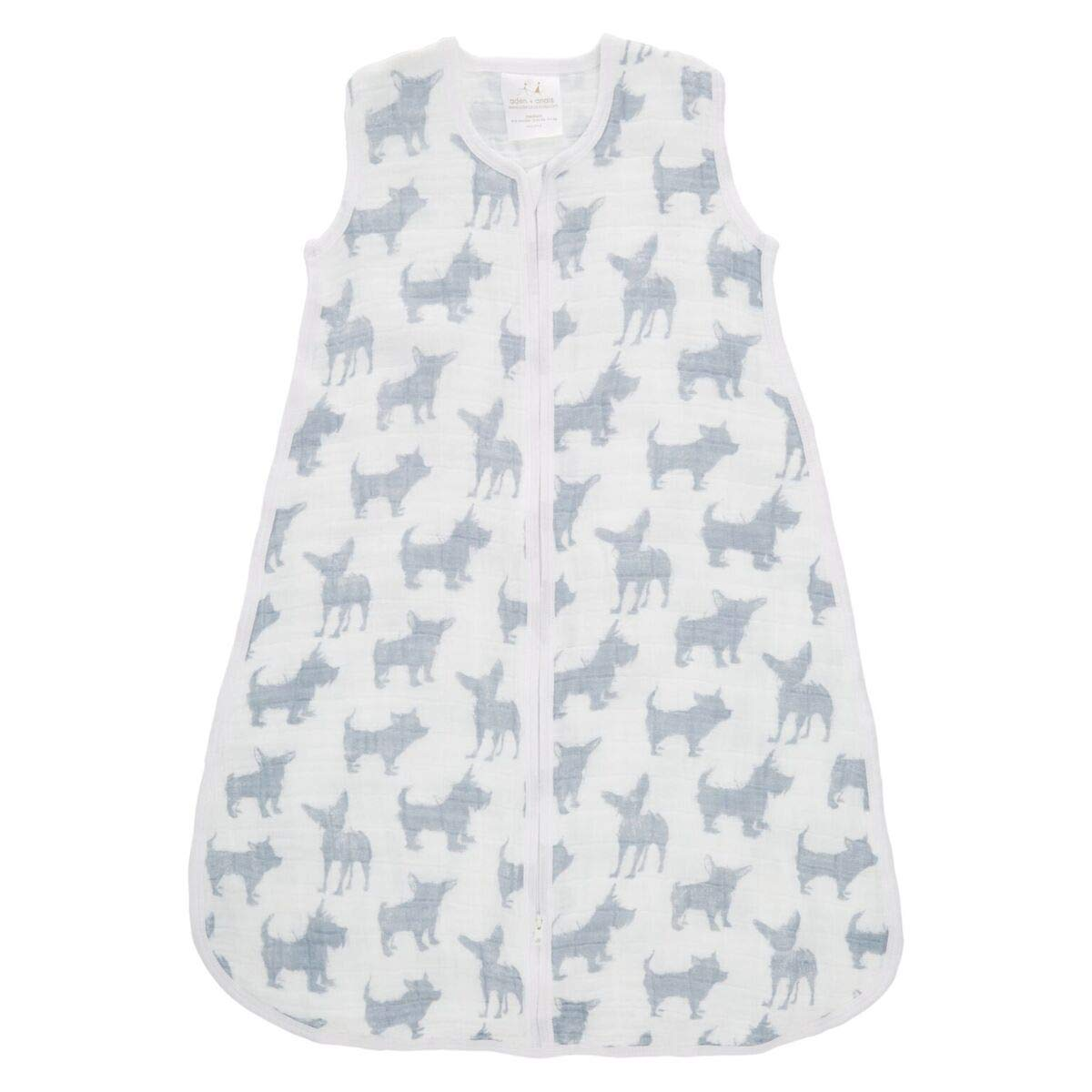 Aden + Anais Classic Sleeping Bag, 100% Cotton Muslin, Wearable Baby Blanket, Extra Large, 18+ Months, Waverly - Pup