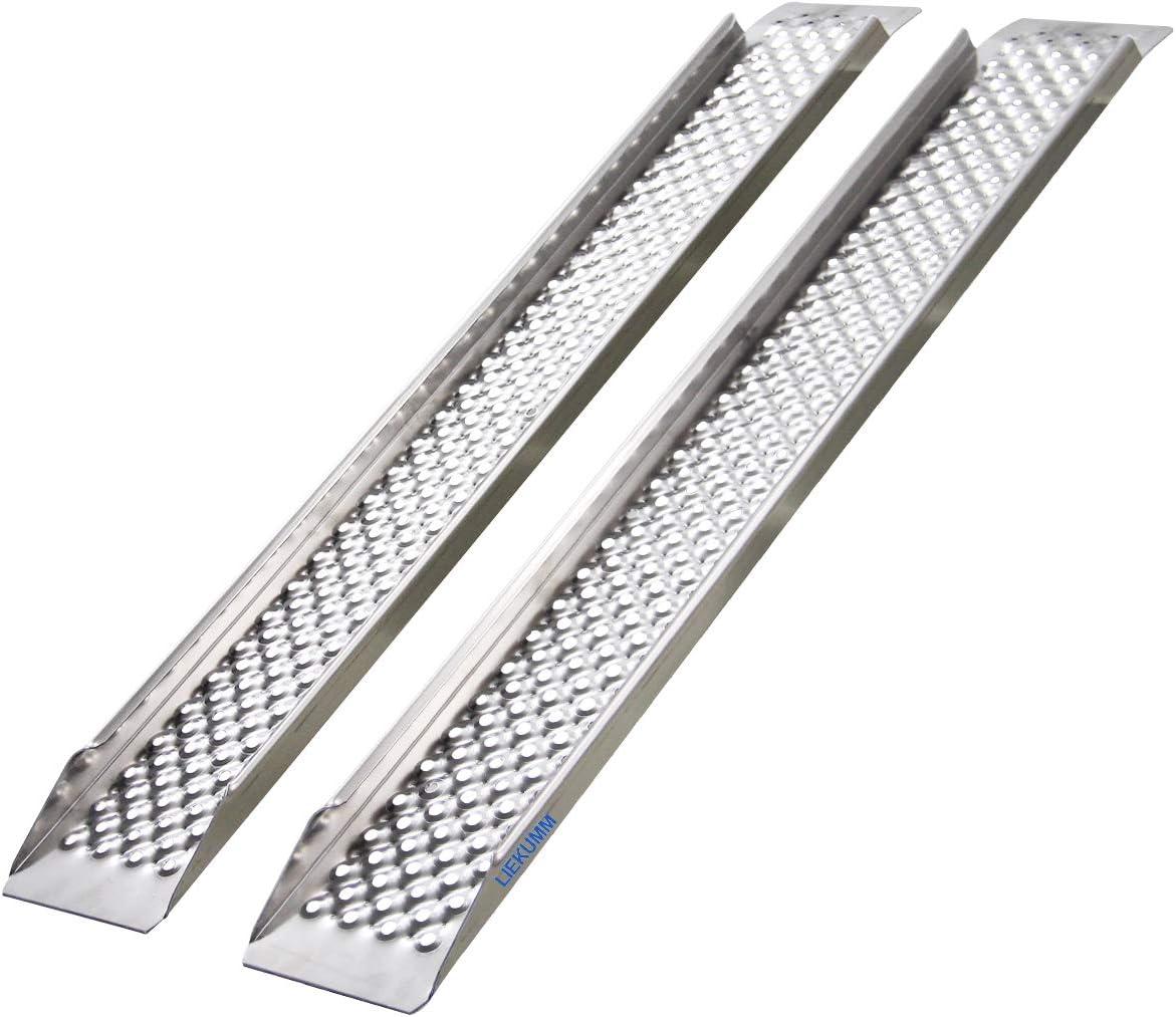 LIEKUMM - Rampa de aluminio para motocicleta, ligera, para ATV, motocicleta, camión, quad, cortacésped, quitanieves y más, capacidad de 700 kg (AR20B)