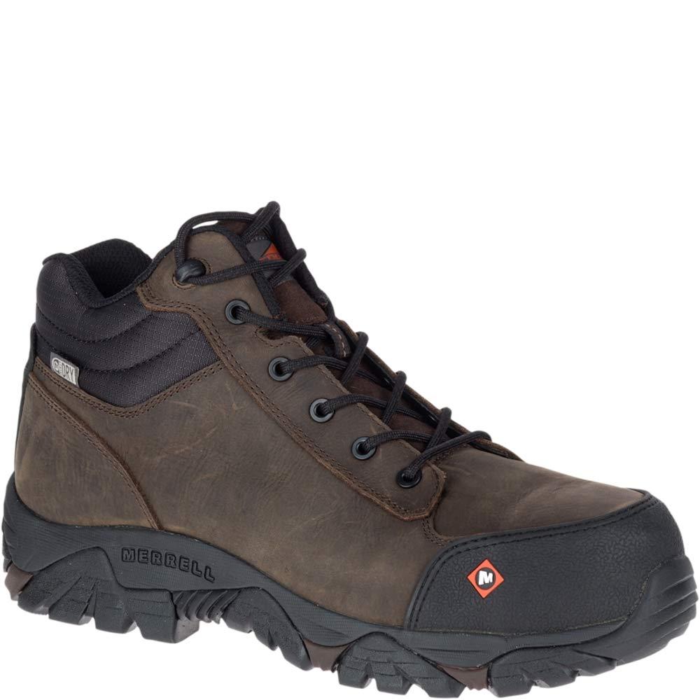 f3c99704d48 Merrell Moab Rover Mid Waterproof Comp Toe Work Boot Men's