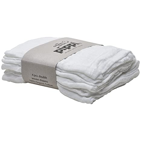 Pippi pañales de tela 4 unidades Gasas para Vómitos paños Organic algodón bio 4455
