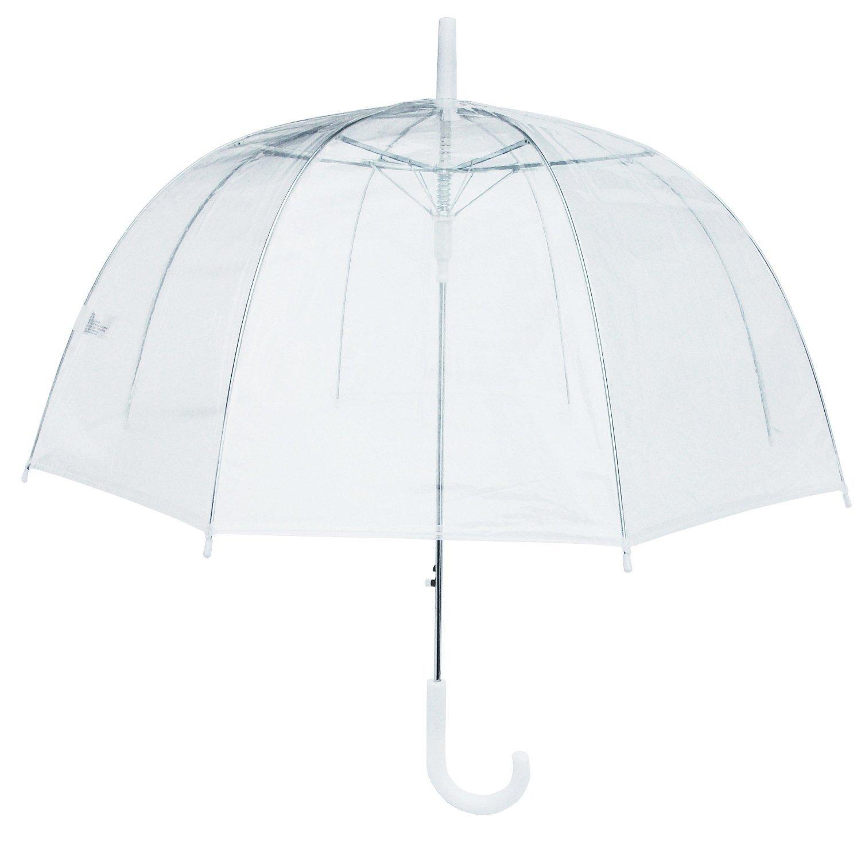 (6 Pack) 46'' Clear Bubble Umbrella Manual Open Fashion Dome Shaped European Hook Handle by Sara Rain (Image #2)
