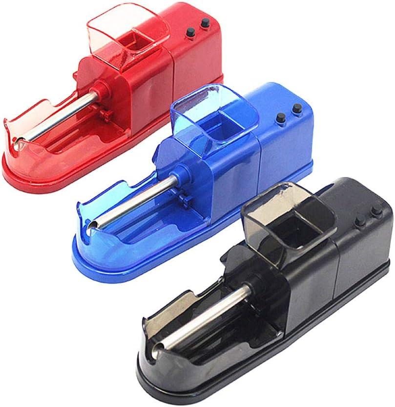 Saska Fácil Automática De Humo Extractor Eléctrico DIY del Cigarrillo Fabricante Mini Vacío Tabaco De Pipa De Batir Dispositivo De Cigarrillo Portátil Conjunto Mejor Regalo para Los Fumadores,Azul