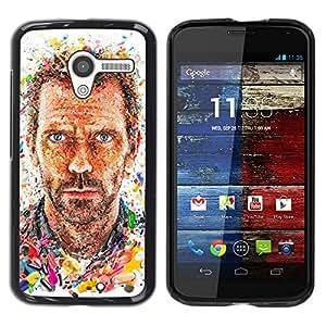 Caucho caso de Shell duro de la cubierta de accesorios de protección BY RAYDREAMMM - Motorola Moto X 1 1st GEN I XT1058 XT1053 XT1052 XT1056 XT1060 XT1055 - Actor Portrait Man Painting
