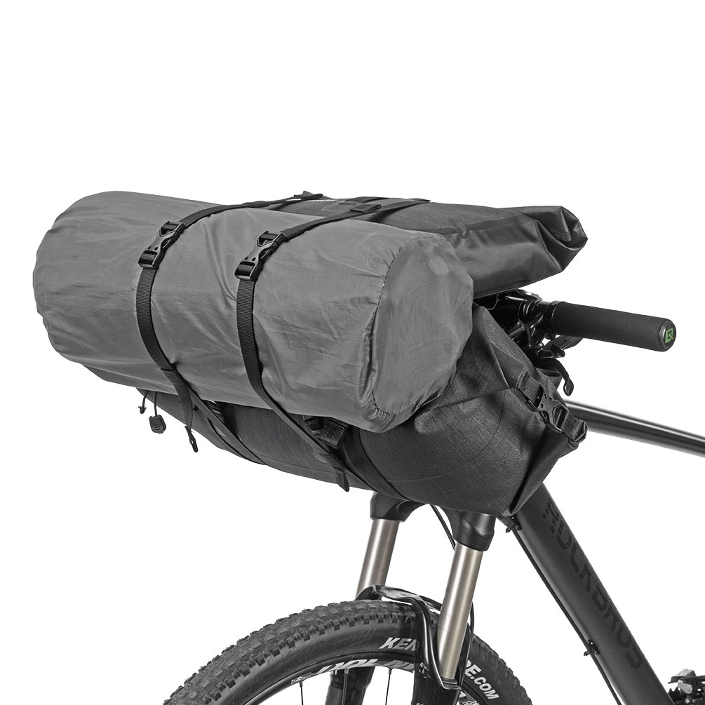 Rockbros 100 Waterproof Bike Bags 2 Intergrated Mtb Handlebar A 008 Front Pannier Bag 3 4l Cycling Tube Pouch Panniers Accessories Quick Release Frame 19 20l